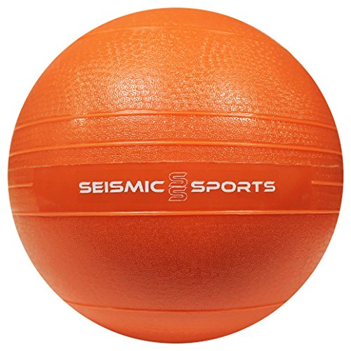 20 lb Slam Ball - 20 Pound Orange Dead Weight Slam Ball for Crossfit, HIIT, Plyo, Cross Training and Cardio Exercise