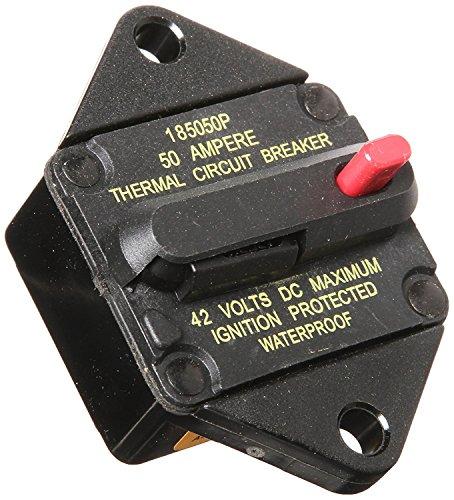 (Bussmann CB185P-50 Waterproof High Amp Panel Mount Type III (3) Circuit Breaker (50 Amp), 1 Pack)
