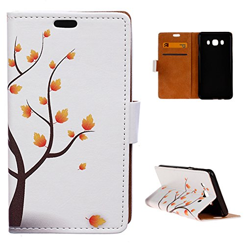 Tv Stand Maple Corner (Torubia Samsung Galaxy On8 Wallet Multi Card Holder Phone Case Slim Pouch Folio PU Leather Cover With Pouch Case For Samsung Galaxy On8 - Maple Tree)
