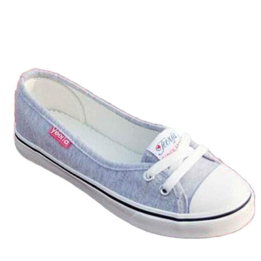 Yesmile Zapatos de mujer❤️Mocasines de Lona de Las Mujeres de la Manera Mocasines Planos Respirables Ocasionales de los Zapatos del resbalón,Casual Planos ...