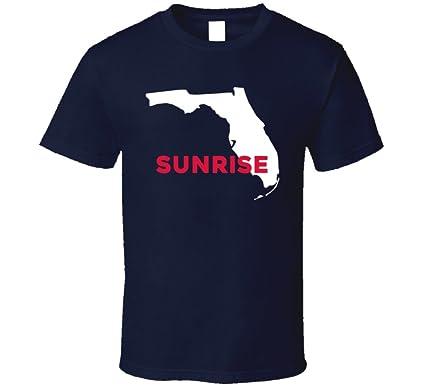 Map Of Sunrise Florida.Amazon Com Sunrise Florida Custom City Patriotic Usa Map T Shirt