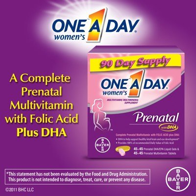 One A Day Women's Prenatal With DHA Vitamin 90 Day Supply