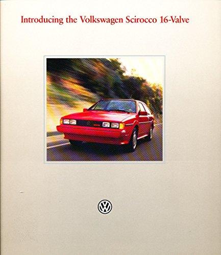 1986 VW Volkswagen Scirocco 16-valve Original Car Sales Brochure - 16 Valve Scirocco