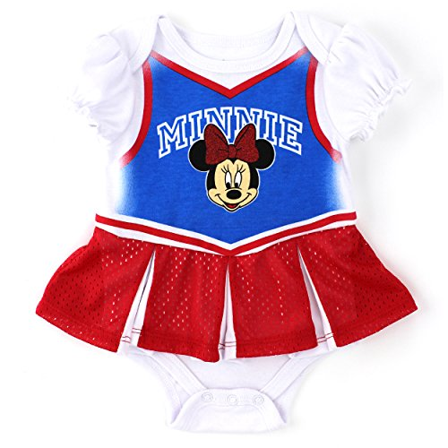 [Minnie Mouse Baby Skirted Cheerleader Bodysuit (0/3M)] (Minnie Mouse Outfit For Babies)