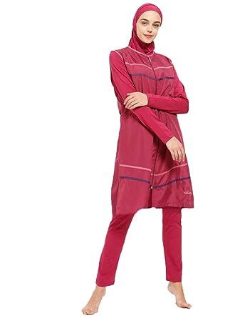 f4579ee2d879d Turkish Muslim Women Fully Lined Fully Covered Swimsuits Islamic Hijab  Modesty Swimsuit Costume Beachwear Burkini (