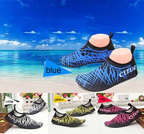 SexRt Männer und Frauen Mutifunctional Wasser Schuhe zum Schwimmen, Pool, Strand Weiß