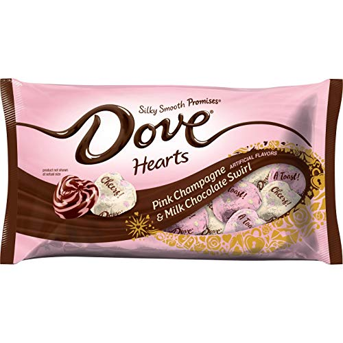 - Dove Valentine's Day Pink Champagne & Milk Chocolate Swirl Hearts - 7.94oz