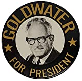 "1964 Barry Goldwater For President 3"" Republican Campaign Button"