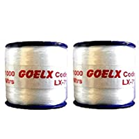 Am Nylon Beading Thread Spools 2 Rolls 0.16mm Thick For All Beading And Jewellery Making Needs- Pack Of 1000 Meter