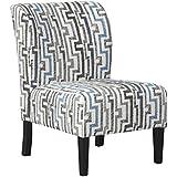 Benchcraft - Alsen Contemporary Print Accent Chair - Granite