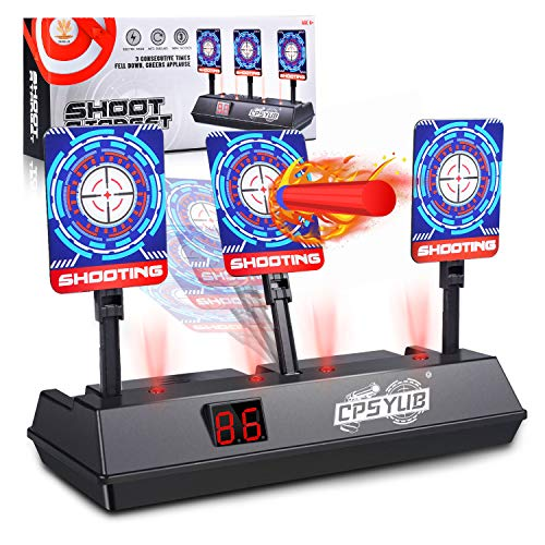 CPSYUB (2021 Updated Edition) Electric Digital Target for Nerf Guns Toys,Scoring Auto Reset Nerf Target for Shooting with Wonderful Light Sound Effect Nerf Guns for Boys Girls(Only Target)