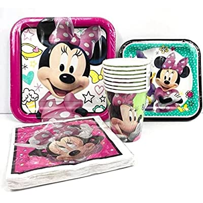 Disney Minnie Mouse Value Pack Birthday Party for 8 Guests ( Plates, Cups, Napkins): Toys & Games