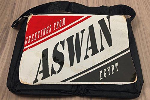 Borsa Tracolla Città Aswan Egitto Stampato
