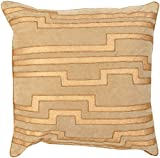 """candice olson hgtv Surya Contemporary Square pillow 20""""x20""""x5"""" (Down Filler) in Yellow-Neutral Color From Velocity Collection"""
