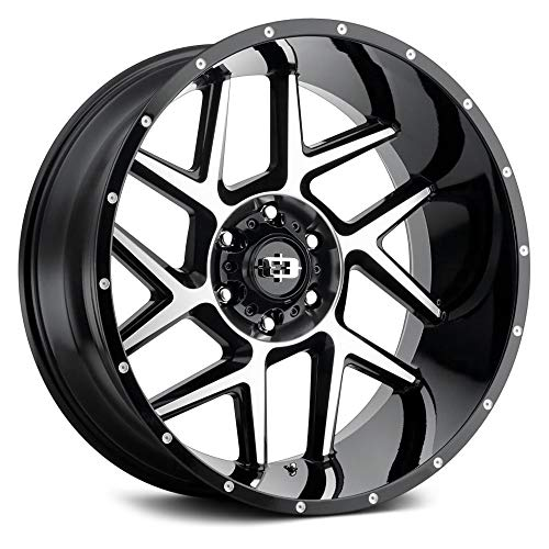VISION OFF-ROAD 360 SLIVER Gloss Black with Machined Face Custom wheels - 24