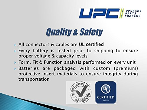 "UPC RBC43 Replacement Battery Pack for UPS Models 6 Buy only Genuine UPC Products! Products manufactured by UPC says ""Ships from and sold by Amazon.com"" or ""Ships from and sold by UPC"" only! Sealed and leak-proof battery made in America. Operating Elevation : 0-10000feet ( 0-3000meters ) Plug & Play with expected battery life of 3-5-years"