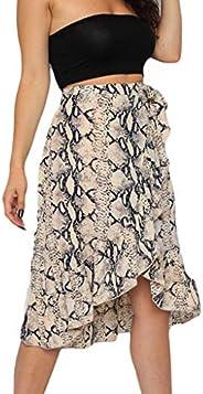 Skirts for Women,Waist Knot Leopard Print High Waist Wrap Split Skirt
