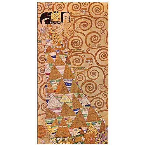 ArtPlaza Klimt Gustav - Anticipation Panneau Décoratif, Bois, Multicolore, 50 x 1.8 x 100 cmAS90522