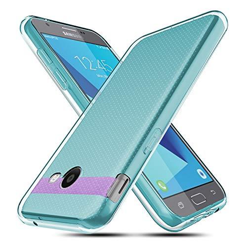BEBEST Compatible w/Samsung Galaxy J7 2017 Case,Galaxy J7 V J7V (2017)/Galaxy J7 Sky Pro/Halo/Galaxy J7 Prime/Galaxy J7 Perx Clear Case [Anti-Scratch] Flexible Ultra Slim Case-Green