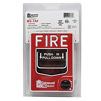 Gamewell-FCI MS-7AF Fire Alarm Dual Action Pull Station, Red