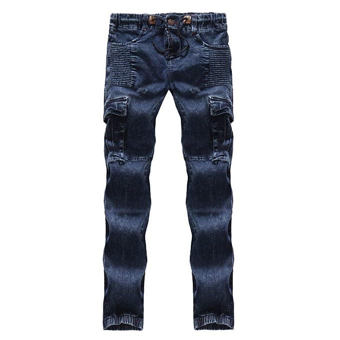 77eb91624 BOLAWOO Pantalones De Mezclilla para Hombres Pantalones De Mezclilla De  Mezclilla Mode De Marca Pantalones De Mezclilla Vintage para Hombres Pantalones  De ...