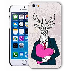 Angel Iphone case, iphone 6 plus case, iphone6 plus case,i phone 6 plus case,iphone 5.5 case, plastic cases back cover skin protector,Fashion Deer pink love by ruishername
