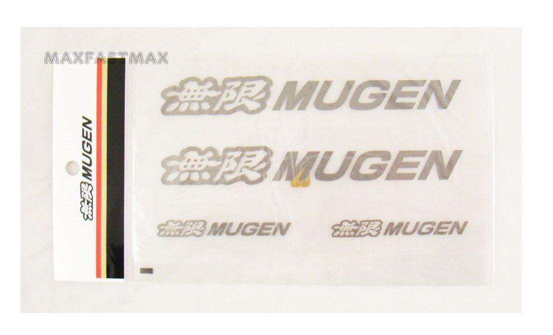 4 Pcs JDM Mugen Power Decal Stickers