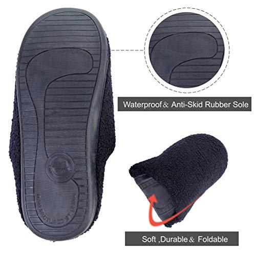 Sole Outdoor Women's Couples Cozy Slippers Indoor Flats Slip Non Shoes amp; Foam House Navy Men's Memory 6qRwR0