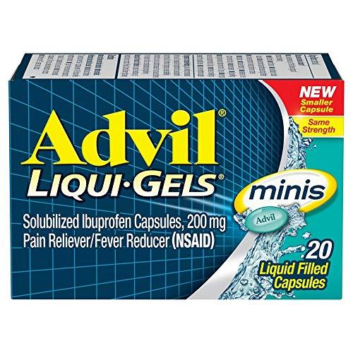 Advil Liqui-Gels Minis Pain Reliever 20 ea ( Pack of 2)