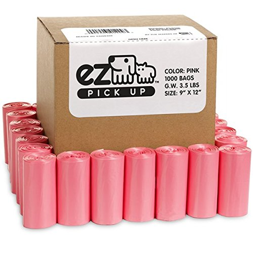 - Pink Poop Bags - 1000 Count Dog Waste Bags, Cat Litter Bags