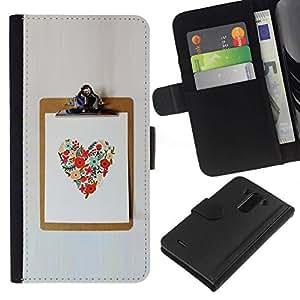 All Phone Most Case / Oferta Especial Cáscara Funda de cuero Monedero Cubierta de proteccion Caso / Wallet Case for LG G3 // Love Spring Summer Poster Work