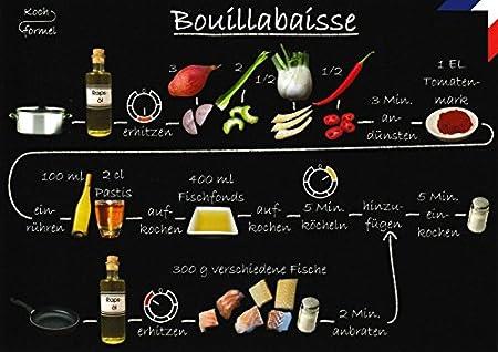 5er Packung Rezept Postkarte Franzosische Kuche Bouillabaisse