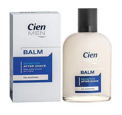 Cien Men Sensitive After Shave Balm 0% Alcohol 100 Ml Shaving & Hair Removal Health & Beauty 3.4 Fl.oz.