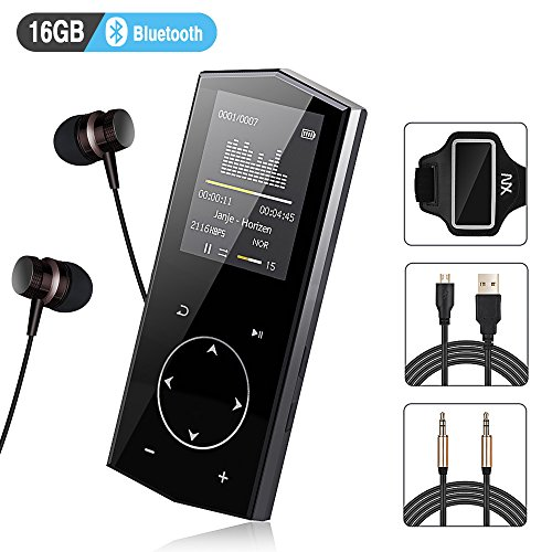 MP3 Player 16GB Bluetooth Xiaowu Music Player with FM Radio Voice Record Function Special Design for Sport and Music Lovers