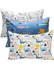 Cloele Kids Toddler Pillowcases,2 Pcs Travel Pillowcases Set 100% Cotton Pillow Cover