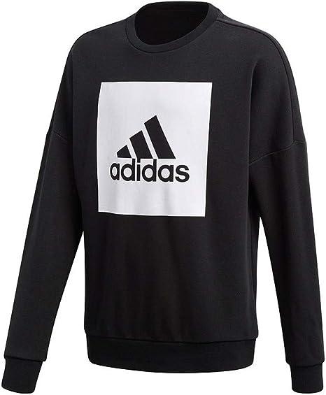 adidas YB Logo Crew Sweat, Enfants: : Vêtements et
