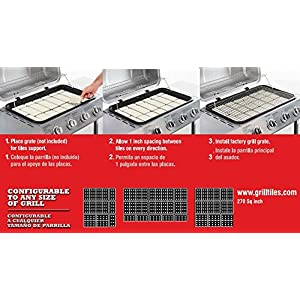 BBQ King Grill Ceramic Tiles Replace Lava Rock and Briquettes