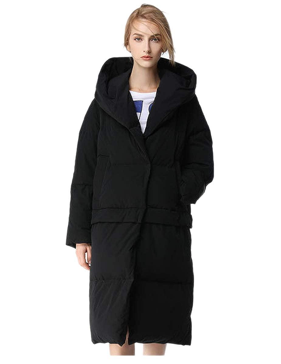 Black Winter 2017 Women Hooded Long Parkas Jackets Fashion Female Coon Parkas Coat Casual Outwear