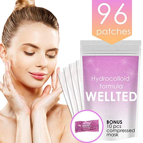 Acne Pimple Master Patch 96 Dots + Compress Mask Hydrocolloid Bandages Mask Acne Spot Treatment Blemish Patches Face Care Sheet Mask Acne Products Face Moisturizer for Oily Skin Spa Product Facial Kit