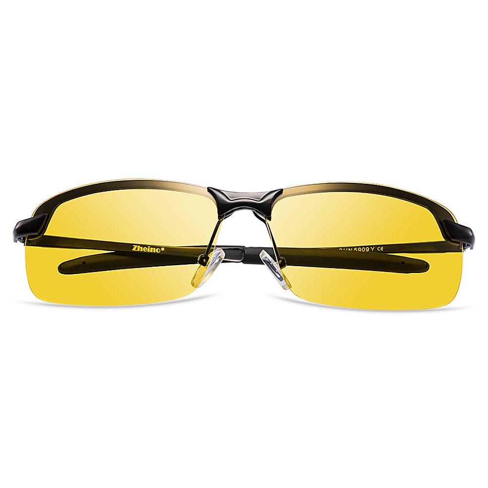 zheino lunettes de conduite de nuit 5909 hd de vision nocturne lunettes de solei ebay. Black Bedroom Furniture Sets. Home Design Ideas