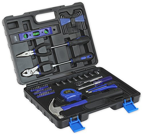 - 65-Piece Tool Set - General Household Hand Tool Kit with Toolbox Storage Case