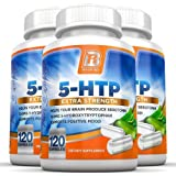 BRI Nutrition 5-HTP - 3-Pack 100mg 5 HTP Veggie Capsules - Helps to Improve Your Overall Mood, Relaxation, Sleep & Increases Appetite Control, 120 Count