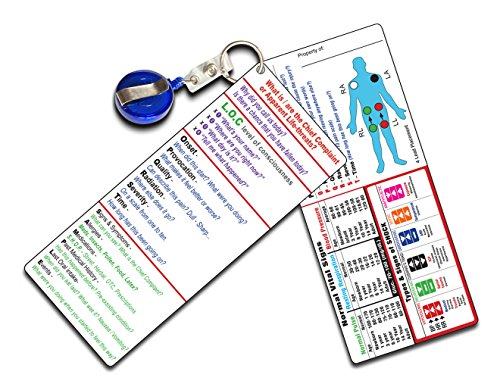 Vital-Recall EMT Dual Pocket Guide (2 Separate Cards)