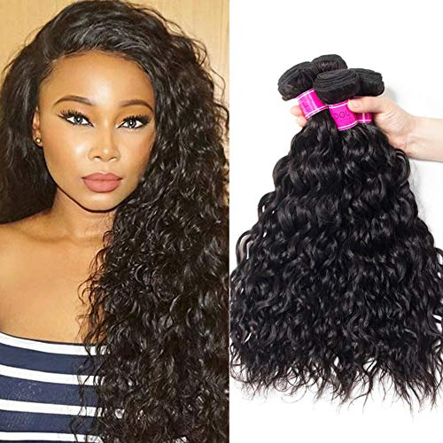 RECOOL Brazilian Water Wave Hair Bundles 10A Wet and Wavy Human Real Good Quality Hair For Sale(14 16 18)
