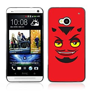 Designer Depo Hard Protection Case for HTC One M7 / Devils Face