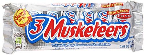 (Mars Chocolate 3 Musketeers Fun Size Chocolate, 6 ct )