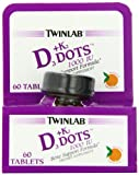 Twinlab Vitamin D3 1000 + K2 Dots, 60 Tablets