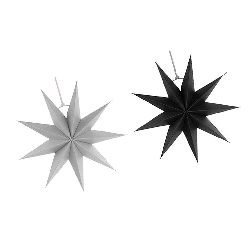 Sharplace Faltsterne, 30 cm 9 Zacken Weihnachtsstern Papiersterne ...