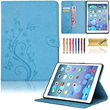 iPad 6 Case, iPad Air 2 Case, Dteck(TM) PU Leather Magnetic Case with [Card Slot/Money Holder] Full Body Protective Folio Flip Case Cover for Apple iPad Air 2/iPad 6th--BLUE