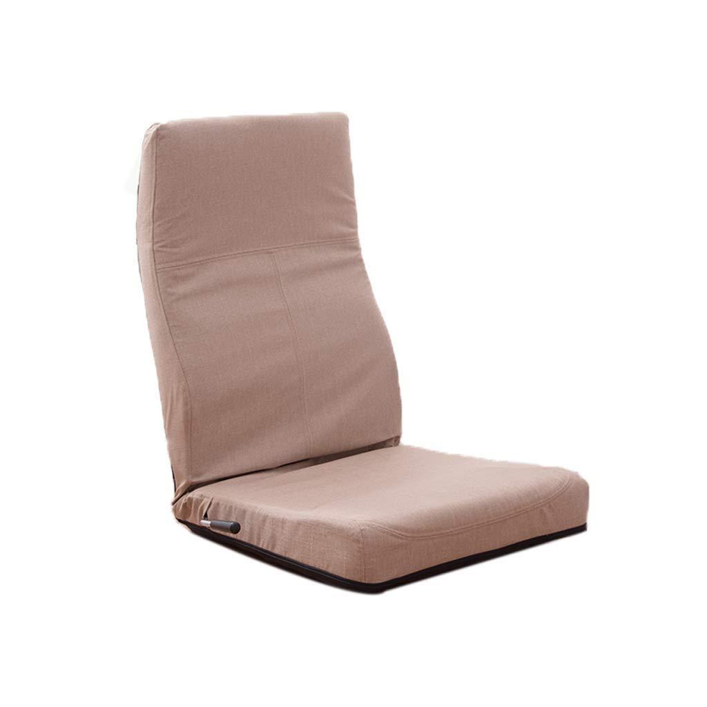 KHAKI Floor Chair, Single Sofa Recliner Japanese Lazy Floor Adjustable Floor Chair Lounge Chair Game Chair,Multi-color Optional (color   Green)
